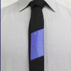 Other - Tie-Jitsu - Black Tie with Blue Belt ranking bar